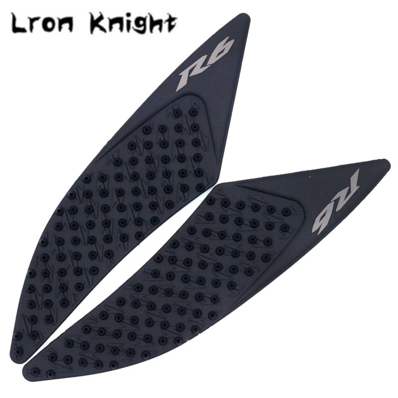 For YAMAHA YZF-<font><b>R6</b></font> YZFR6 YZF <font><b>R6</b></font> <font><b>2017</b></font> 2018 Motorcycle Tank Pad Protector Sticker Decal Gas Knee Grip Tank Traction Pad Side image