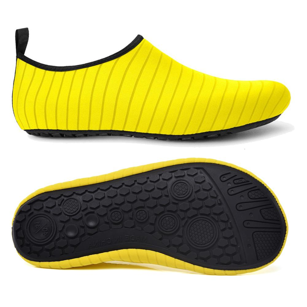 Wet Shoes Men's Beach Shoes Swimming Diving Socks Drifting Water Sport Socks River Anti Slip Yoga Fitness Wading Shoes Yellow