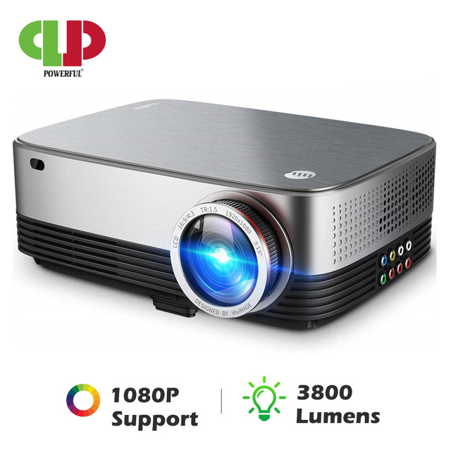 POWERFUL LED Projector SV 428 Support 1080p 3800 Lumens Optional Android (1G+8G) WIFI Bluetooth for Home Cinema Video Beamer