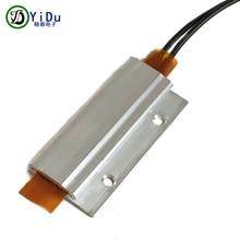 1 шт 12V 60C термостат PTC алюминиевый нагревательный с монтажным отверстием для мини-поверхность инструмента-изолированный