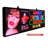 "Ultra Bright 5500Nits Outdoor LED USB RGB Color 39""x14"" P5 For Store Display Scrolling Messages Electronic Sign Free Design Ads"