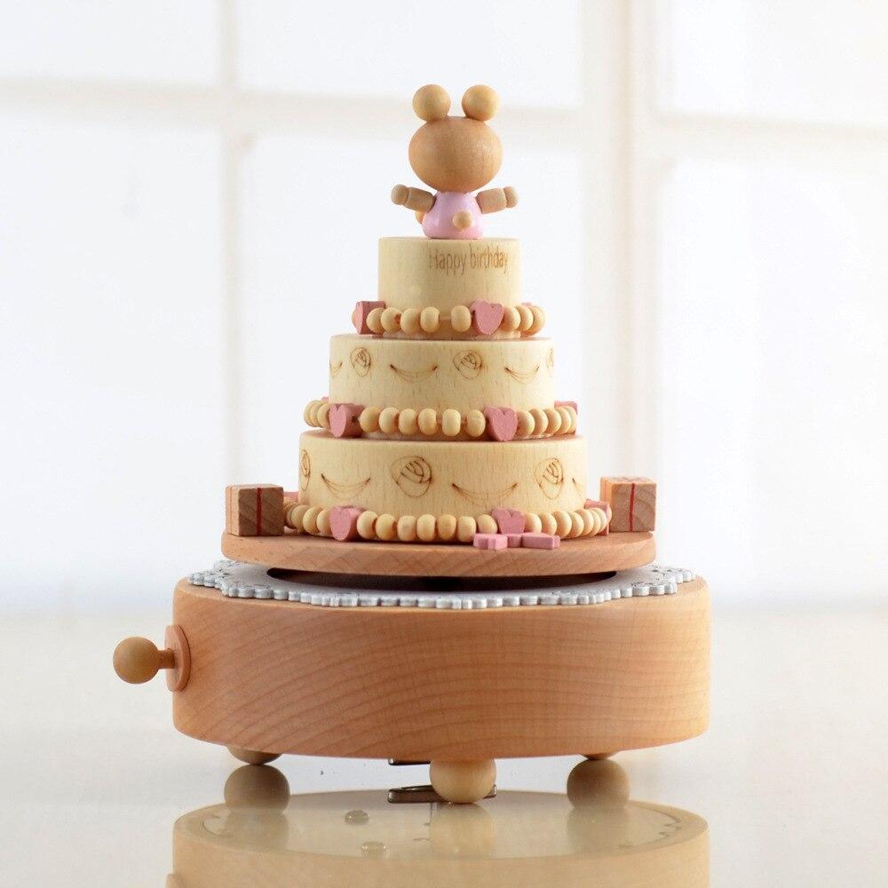 Tremendous Cute Bear Birthday Cake Music Box Happy Birthday Spinning Wood Birthday Cards Printable Benkemecafe Filternl