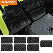SHINEKA Interni Adesivi Per Suzuki Jimny Auto In Fibra di Carbonio Posteriore Fila Entrambi I Lati Decorazione Adesivi Copertura Per Suzuki Jimny 2019 +
