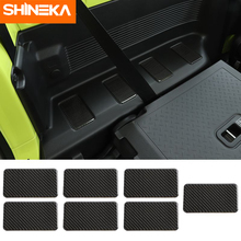 SHINEKAภายในสติกเกอร์สำหรับSuzuki Jimnyรถคาร์บอนไฟเบอร์แถวด้านหลังทั้งสองด้านตกแต่งสติกเกอร์ฝาครอบสำหรับSuzuki Jimny 2019 +