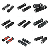Motorcycle CNC Electric 1 Handlebar Hand Grips For Harley Road King Street Glide FLHR FLHX 2008 2020 Dyna Softail Fat Bob
