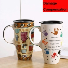 500ml jingdezhen Coffee Mug Coffee Cup Coffee Mugs handgrip Ceramic camouflage Mug Mass Coffee Cup Home Couple Ceramic Cup cartoon cute cup ceramic about 350ml mug breakfast coffee milk cup couple drinking cup creative student with cup handgrip mugs