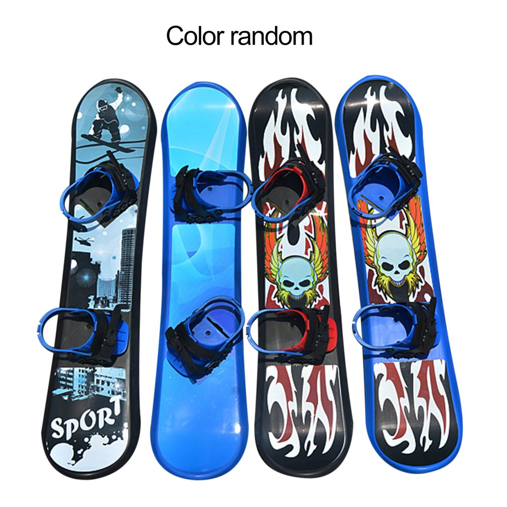 Outdoor Sports 95/110/128CM Plastic Style Single Board Two-way Snow Grass Sand Board For Children & Adults