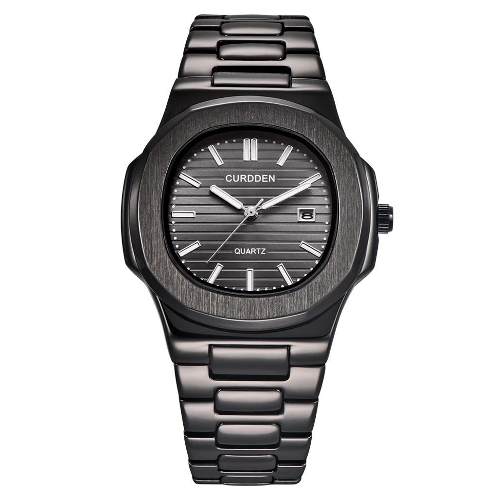 Stainless Steel Luxury Men Fashion Nautilus Analog Sport Quartz Wrist Watch