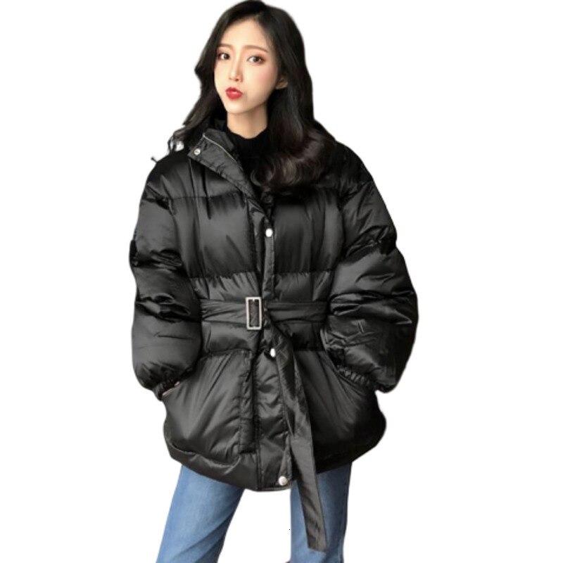 2019 Осенняя Зимняя Толстая Женская куртка, одежда с хлопковой подкладкой, свободное Женское пальто, парка размера плюс, пальто, зимняя одежда, верхняя одежда, анорак on AliExpress