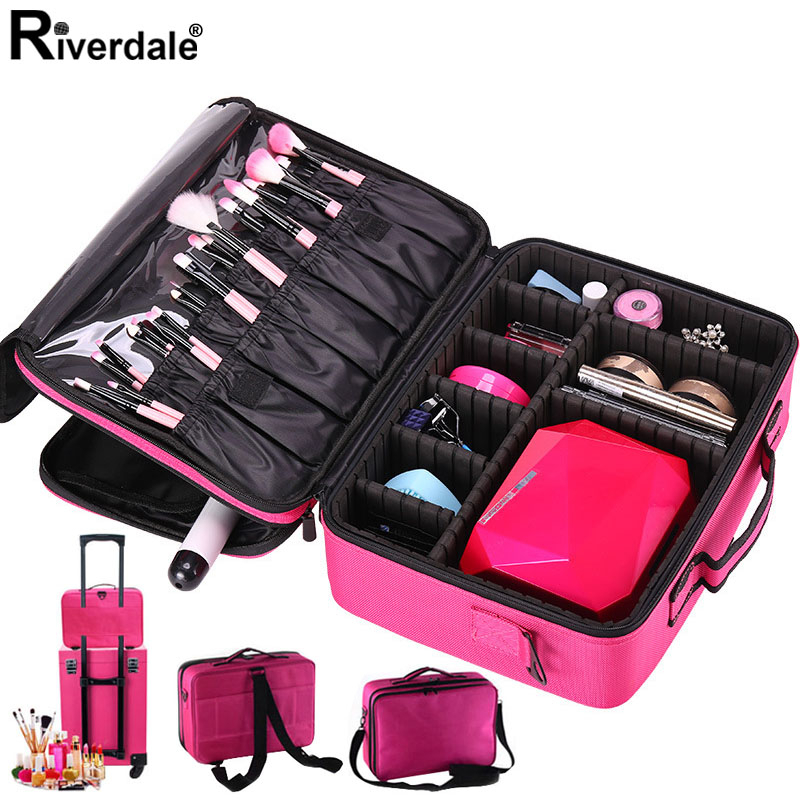New Women Brand Cosmetic Bag Travel Makeup Organizer Professional Make Up Box Cosmetics Pouch Bags Beauty Case For Makeup Artist