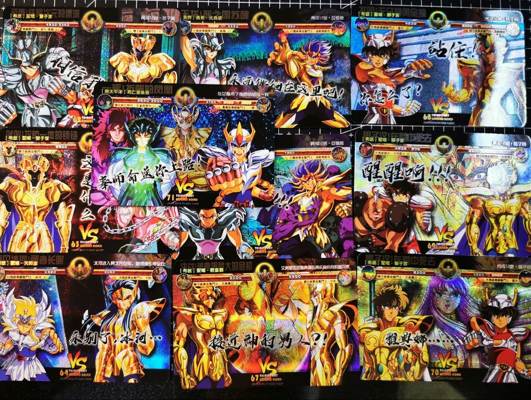 17pcs/set Saint Seiya Golden Road Story Battle Card Sanctuary Assassin Hobby Collectibles Game Collection Anime Cards