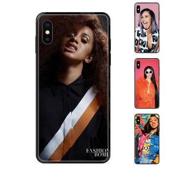 Black Soft TPU Screen Protector Unny Girl Cardi B Pattern Tpu For Galaxy S5 S6 S7 S8 S9 S10 S10e S20 edge Lite Plus Ultra Lady image