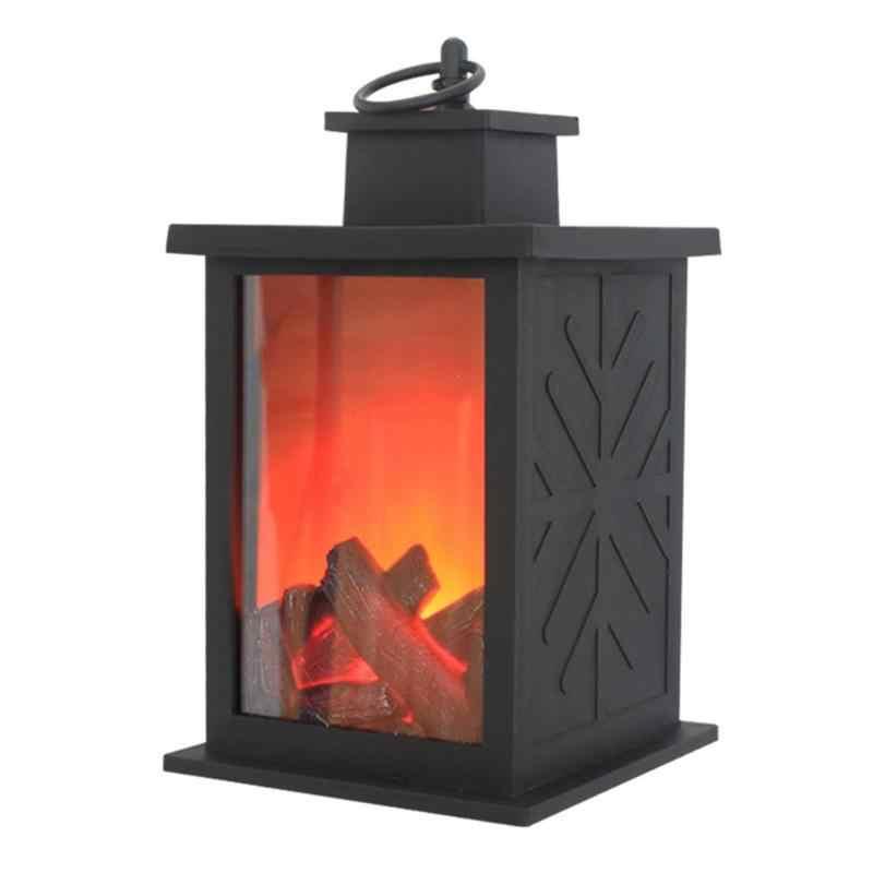 LED 炎ランタンランプ模擬暖炉単三電池プラスチック繊細なオリジナリティ長寿命飾り中庭ルームの装飾