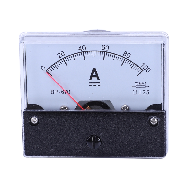 DC 100A Analog Panel Ampere Current Counter Ammeter Meter DH-670