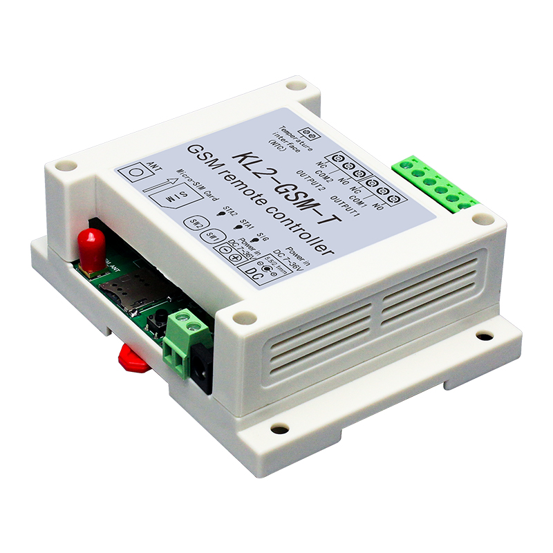 GSM 2 Way Relay Controller SMS Call Temperature Sensor Remote Control Smart Home Automation SIM Switch Garage Door Opener
