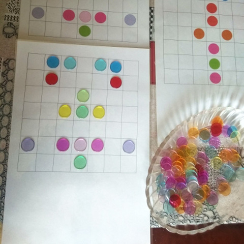Montessori Learning Education Math Toys 100pcs Learning Resources Color Plastic coin Bingo Chip Children Kids Classroom Supplies Multan