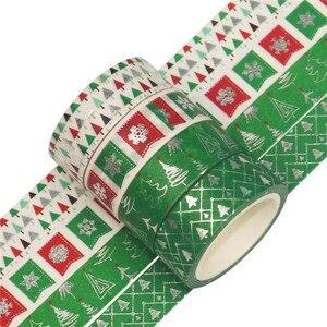 Image 4 - 12 sztuk/zestaw boże narodzenie taśmy Washi Snowflake renifer paski Kawaii taśmy maskujące naklejki papiernicze Scrapbooking szkolne