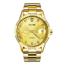 TEVISE Mens Watch Automatic Top Brand Lu