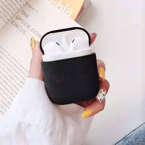 Image 1 - Luxury Leather Earphone Case For Apple AirPods 2 Headphones Airpods2 Cases Air pods 2 Pro Case Protective Cover Luxury