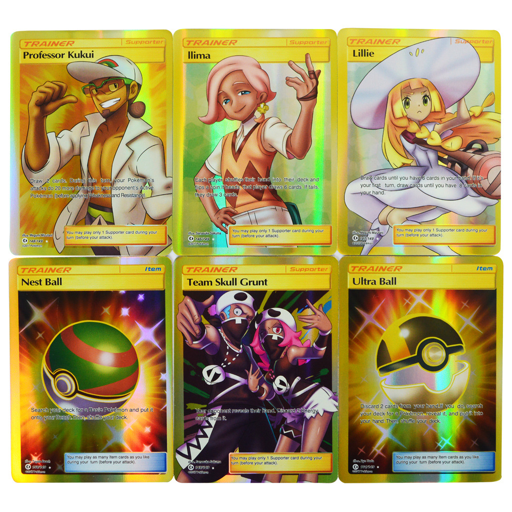120Pcs ( Gx + Trainer ) Sun/Moon Game Collection 6.3*8.8CM Cards