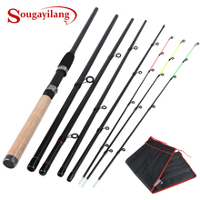 Sougayilang 3M 3.6M Fishing Rod Ultralight Weight 2/6 Section Fishing Rod Carbon Rod Spinning Travel Rod Carp Fishing Tackle