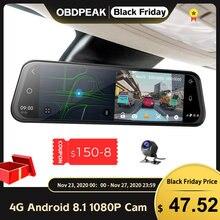 Dash Cam 10 Zoll 4G Auto Rückspiegel Auto DVR Spiegel Android FHD Auto Recorder GPS Navigation Dash Kamera rückspiegel