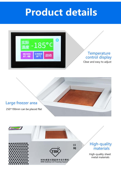 TBK-578 Frozen Separating Machine For Smartphone LCD Repair 9