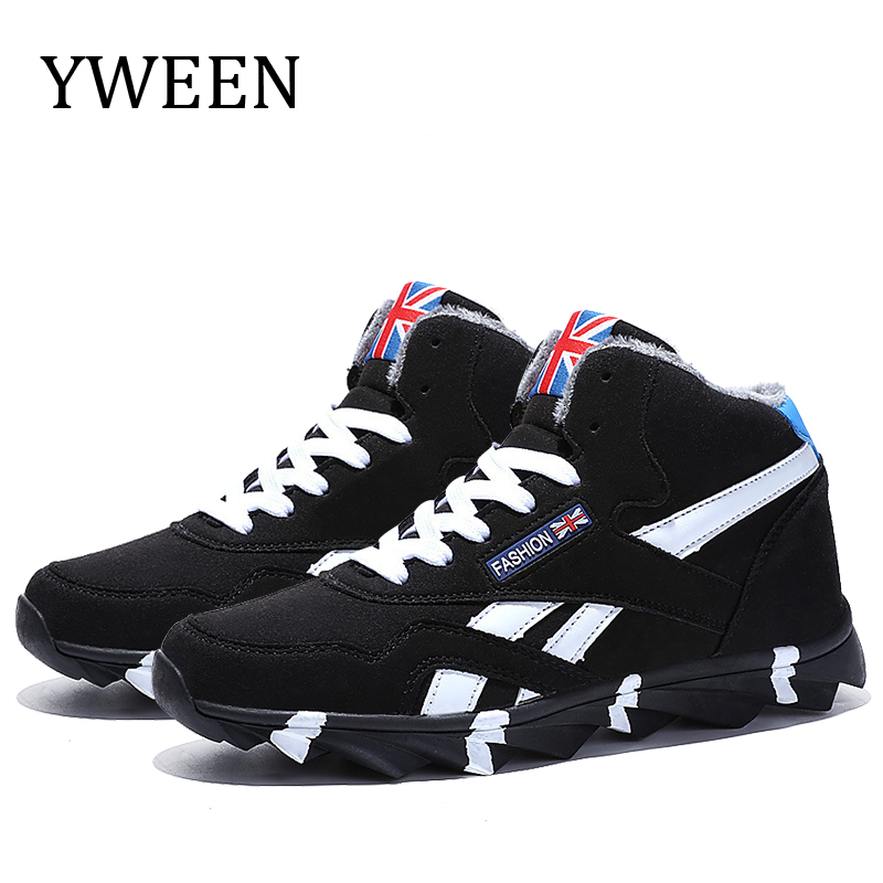 YWEEN Winter Men's Boots Warm Boot With Velvet Male Lace Up Shoes Mans Casual Shoes For Men Boots Footwear Male Sneakers