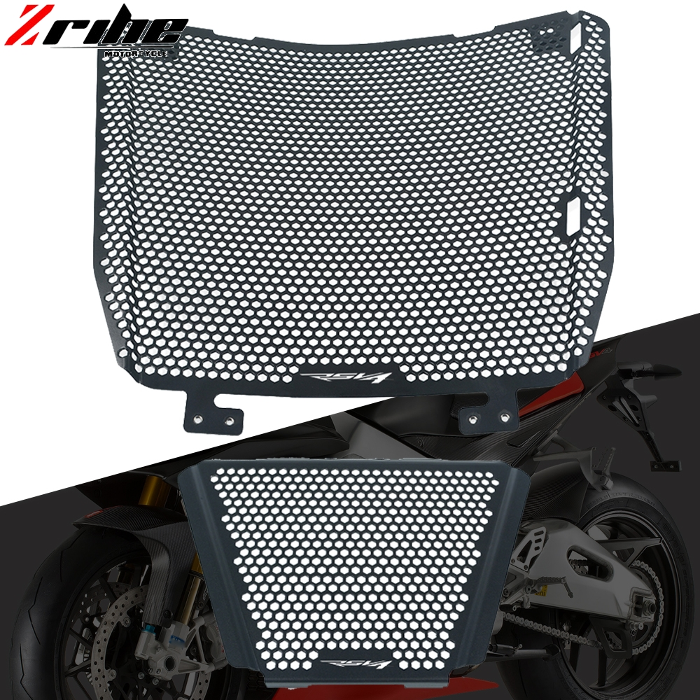 For Aprilia RSV4 <font><b>1000</b></font> Factory Tuono V4 <font><b>1000</b></font> APRC Radiator Guard Grille Protector Oil Cooler Cover 2011-2014 2013 2012 Motorcycle image