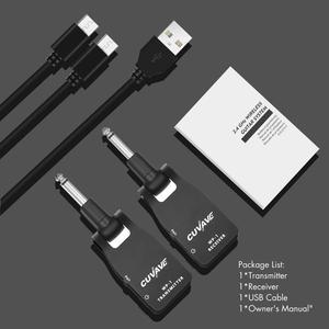 Image 1 - 2.4G kablosuz gitar sistemi 30M iletim aralığı şarj edilebilir verici ve alıcı gitar bas için siyah/gümüş renk