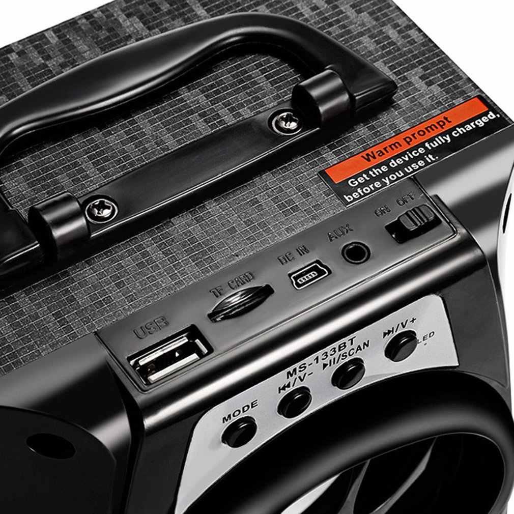 محمول عالية الطاقة الناتج المتكلم راديو FM سماعة لاسلكية تعمل بالبلوتوث المتكلم يدعم FM TF بطاقة التحكم في مستوى الصوت في الهواء الطلق في الأماكن المغلقة