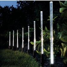Светильник на солнечной батарее, ламповый светильник s, акриловый пузырьковый светильник, дорожка для лужайки, ландшафтное украшение, садовая палочка, ночник, светильник, набор ламп