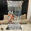 Mirror PVC Reflective Sequin Curtain Wedding Background Decoration Curtain DIY Holiday Party Stage Supplies Interior Decoration