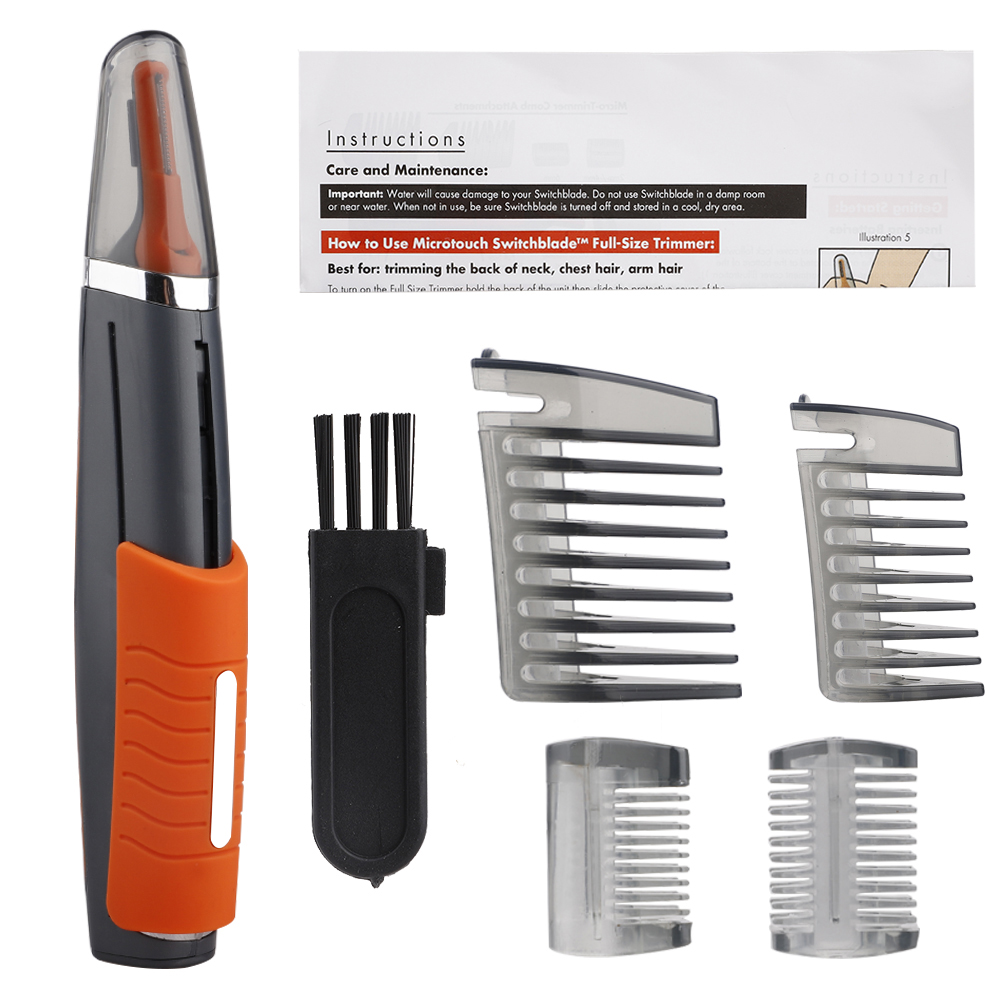 2 In 1 Multifunctional Hair Trimmer Nose Trimmer To Remove Face From Ear Comb Grooming Tool Kit With LED Light