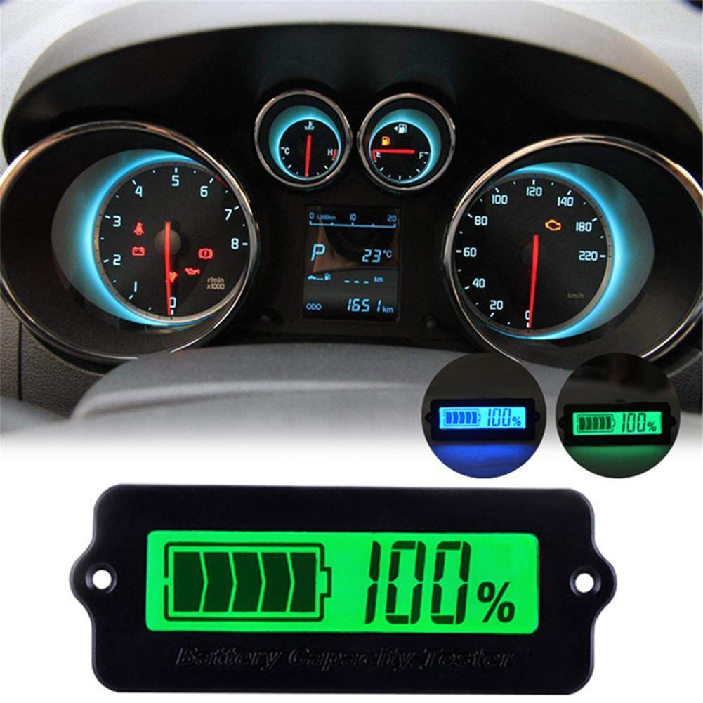 12V Adjustable Battery Capacity Indicator Lead Acid Indicator LCD Digital Display Meter LiPo Battery Detection Tester Voltmeter