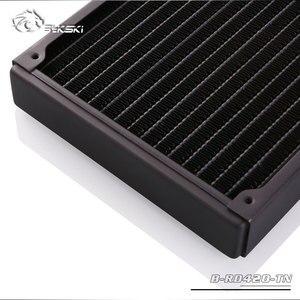 Image 4 - Bykski B RD420 TN, однорядные радиаторы 420 мм, толщина 28 мм, стандартные радиаторы водяного охлаждения, подходят для вентиляторов 140*140 мм