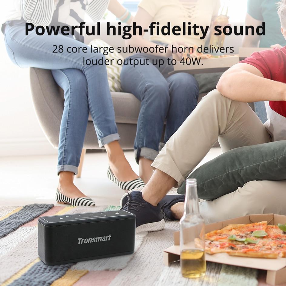 Tronsmart Mega TWS Bluetooth 5.0 Speaker 40W Portable Speaker Colums Touch Control Wireless Soundbar Voice Assistant NFC MicroSD (22)