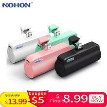 NOHON Wireless Mini Power Bank 3000mAh Portable Charger Exte