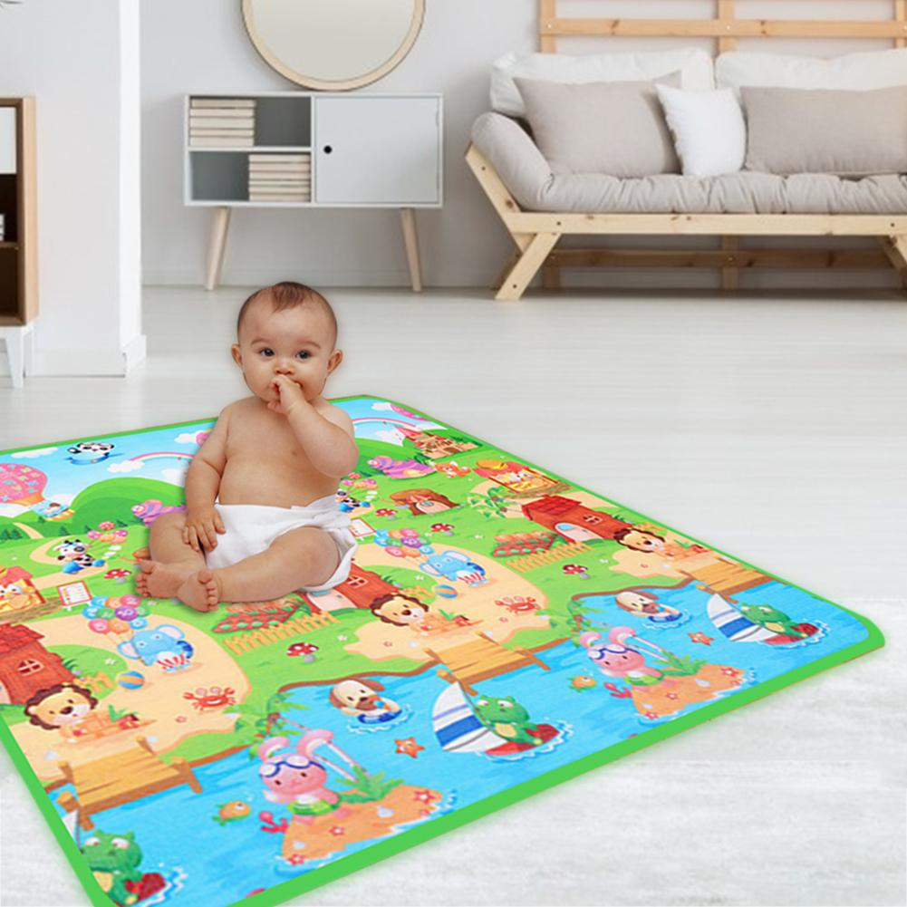 Children's Tent Game Mat EPE Pearl Cotton Safety Environmental Protection Double-Sided Pattern Farm Letter Crawling Mat