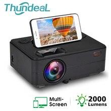 ThundeaL HD Мини проектор 2000 люмен светодиодный WiFi беспроводной синхронизация дисплей 1080P ТВ HDMI VGA 3D видео проектор домашний кинотеатр