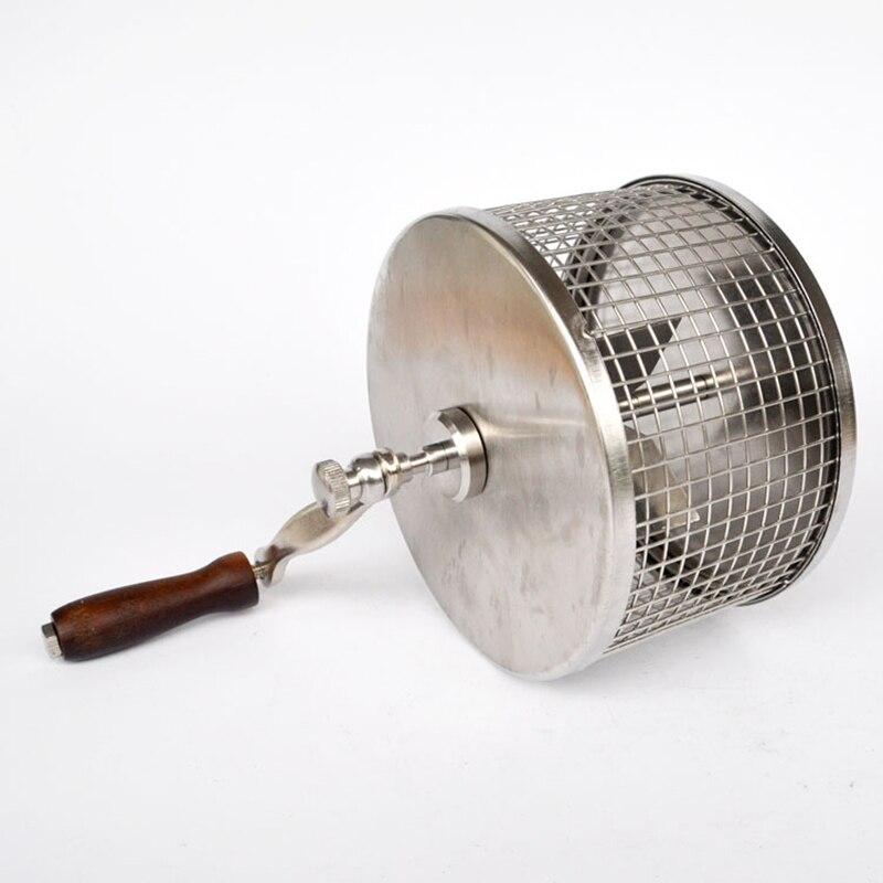 Ручка Кофе в зернах запеченная машина для фасоли обжарочная машина ручная жаровня для зерен мини выпечки DIY маленькие ролики из нержавеющей...