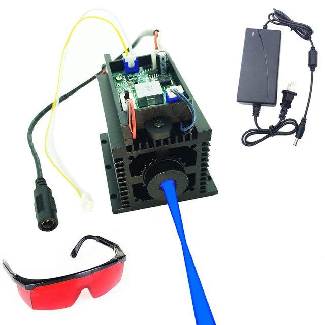 Z możliwością ustawiania ostrości wysokiej mocy 15W laserowa maszyna grawerująca diy głowica do cięcia laser do cięcia i grawerowania metalu drewna 12V 450nm 15000mw TTL analogowy