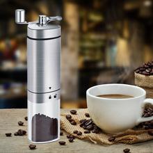 Przenośna korba ręczna młynek do kawy ręczna kruszarka ze stali nierdzewnej ręcznie młynki do kawy Burr młynki kuchenne tanie tanio alloet NONE CN (pochodzenie) STAINLESS STEEL manual