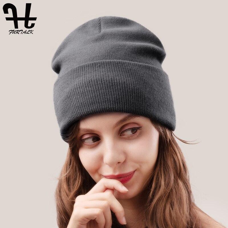 FURTALK Spring   Beanie   Hat for Women Watch Cap Men Knit   Beanie   Braided Hat   Skullies   Cap Winter Autumn Hats for Female 2019