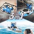 3 в 1 RC Дрон лодка автомобиль вода наземный воздушный режим Три режима Безголовый режим удержание высоты RC вертолетные игрушки для детей Под...
