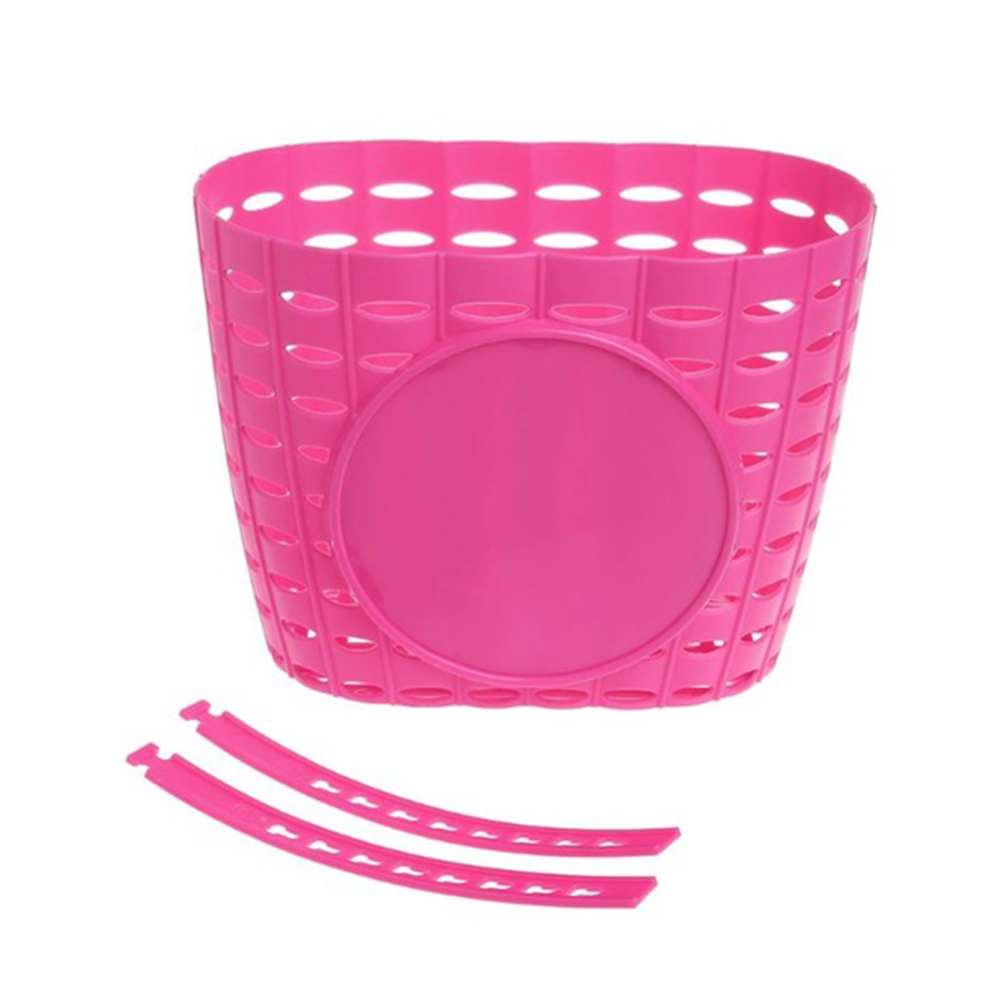 Plastic Bicycle Basket Children <font><b>Bike</b></font> Front Handlebar <font><b>Carrier</b></font> Scooter Saddle <font><b>Bag</b></font> Plastic Bicycle Basket <font><b>Bike</b></font> Accessories new image