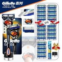 Razors-Blade Gillette-Shaver Proglide Men-Machine for Shaving with Base