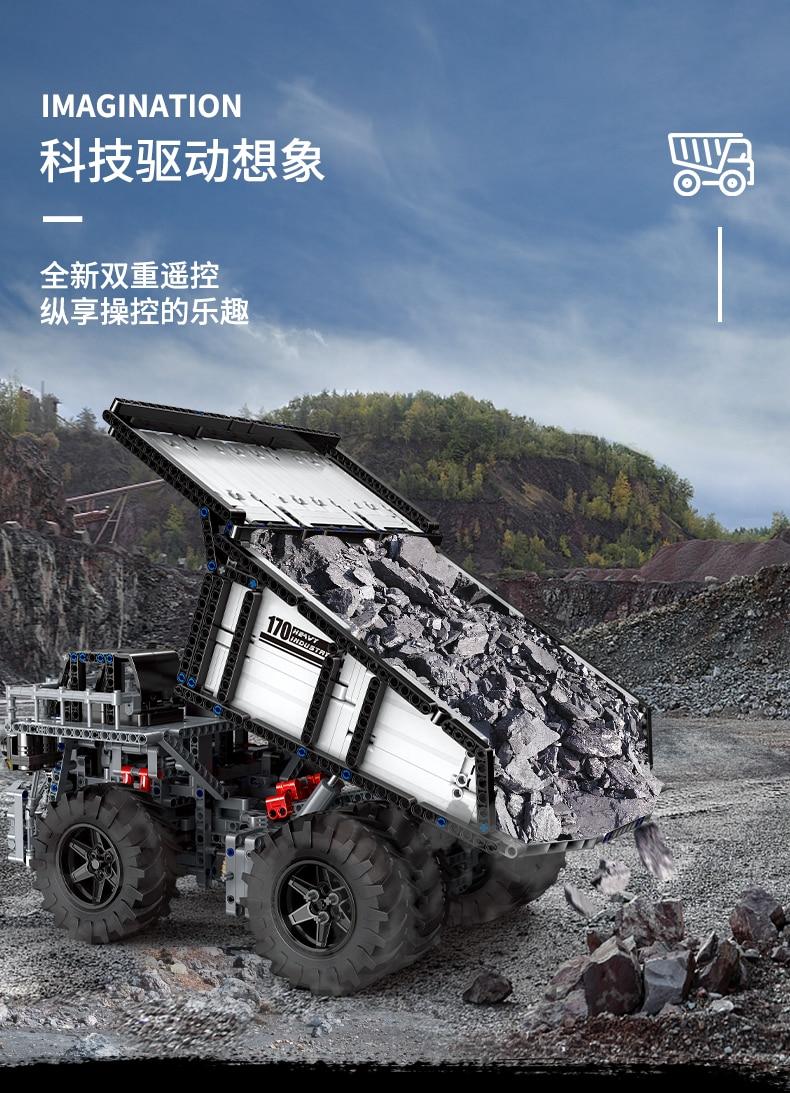 MOULD KING 13170 Compatible 29699 Technic Liebher Terex T284 Mining Excavator Dump Building Block (2044PCS) 3