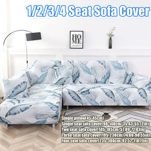 Sofa-Cover Furniture Longue-Corner Chaise Stretch Elastic Living-Room L-Shaped for Couch