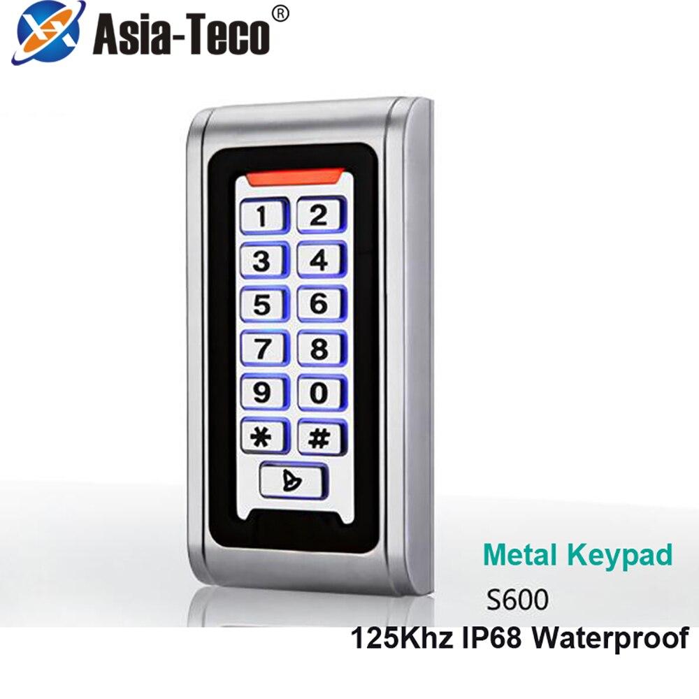 IP68 luz de fondo impermeable 125Khz RFID IP68 teclado de Lector de Control de Acceso independiente impermeable 2000 usuarios abridor de puerta